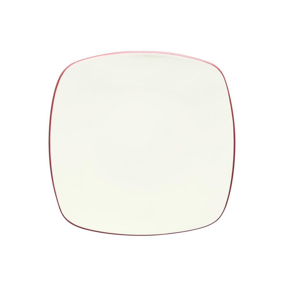 Colorwave 11.75 in. Raspberry Square Platter