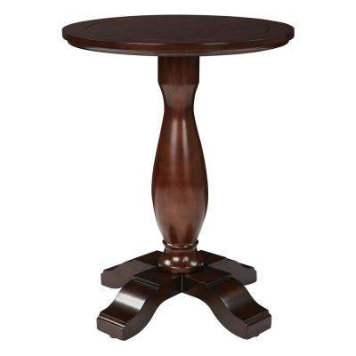 Annalise Espresso Round Accent Table