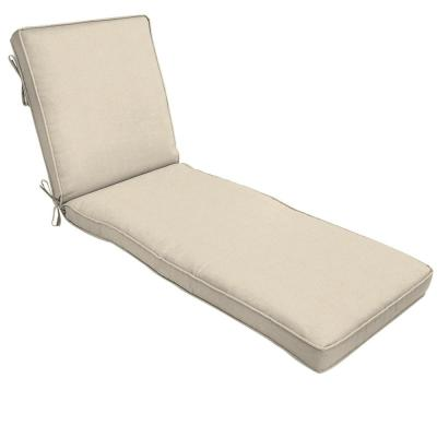 22 x 74 Sunbrella Canvas Flax Outdoor Chaise Lounge Cushion