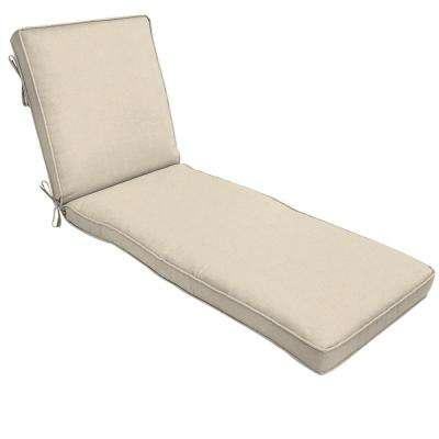 Sunbrella Canvas Flax Outdoor Chaise Lounge Cushion