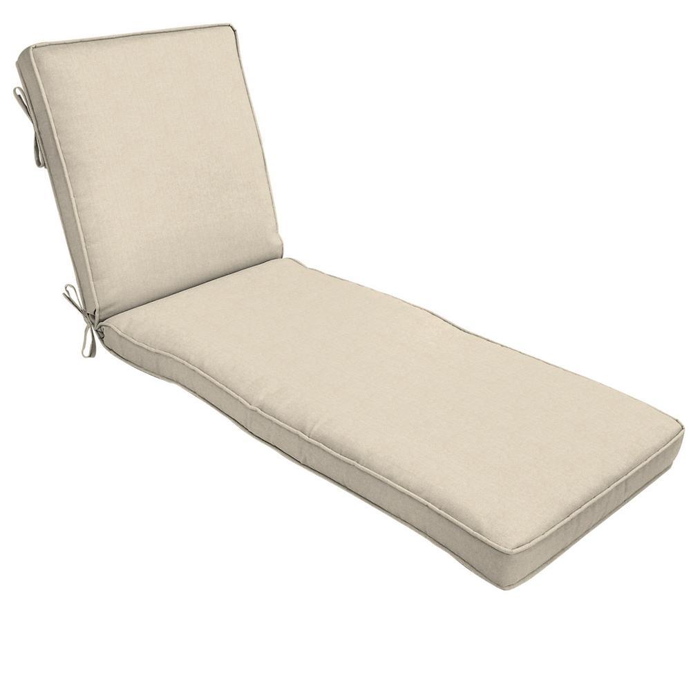 22 x 74 Sunbrella Canvas Flax Outdoor Chaise Lounge Cushion