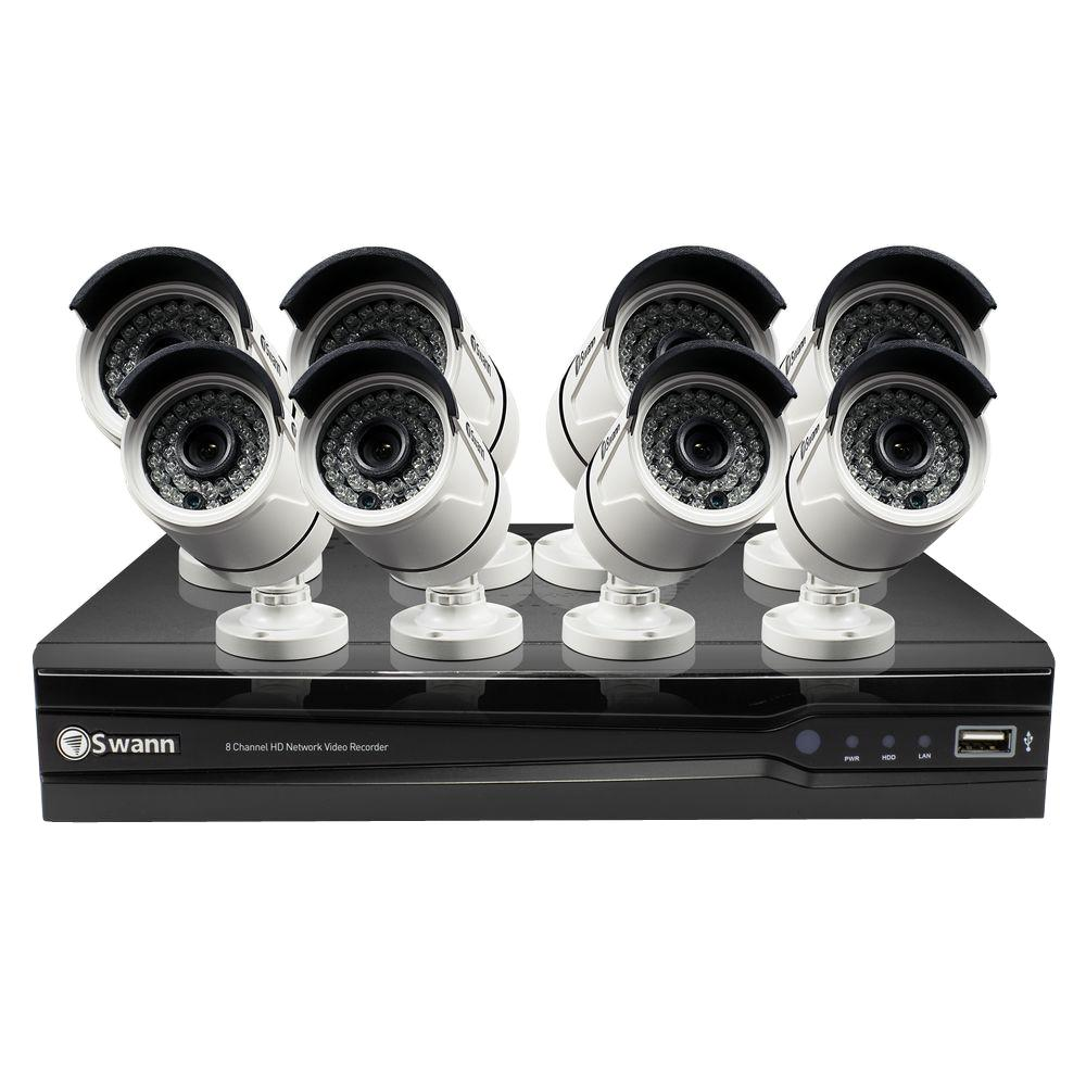 Swann NVR8-7400 4MP 2TB NVR with 8 x NHD-818 4MP Bullet Cameras ...
