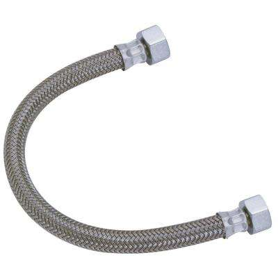 1/2 in. Compression x 1/2 in. FIP x 12 in. Braided Polymer Faucet Connector