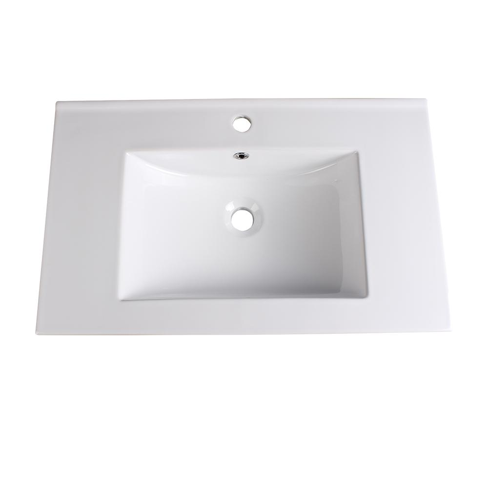 Fresca Torino 30 In Drop In Ceramic Bathroom Sink In White With