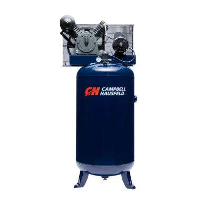 80 Gal. Vertical Two Stage Stationary Electric Air Compressor 14CFM 5HP 208-230V 1PH (HS5180)