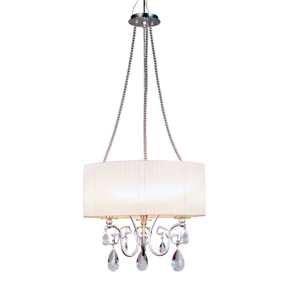 null Tempest Collection 3-Light Hanging Silver Large Pendant-DISCONTINUED