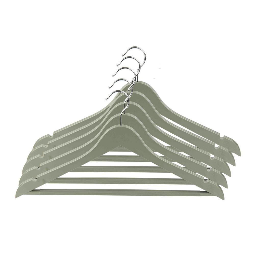 Grey Plastic Hanger (5-Pack)
