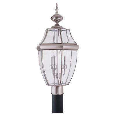 Lancaster 3-Light Outdoor Antique Brushed Nickel Post Top