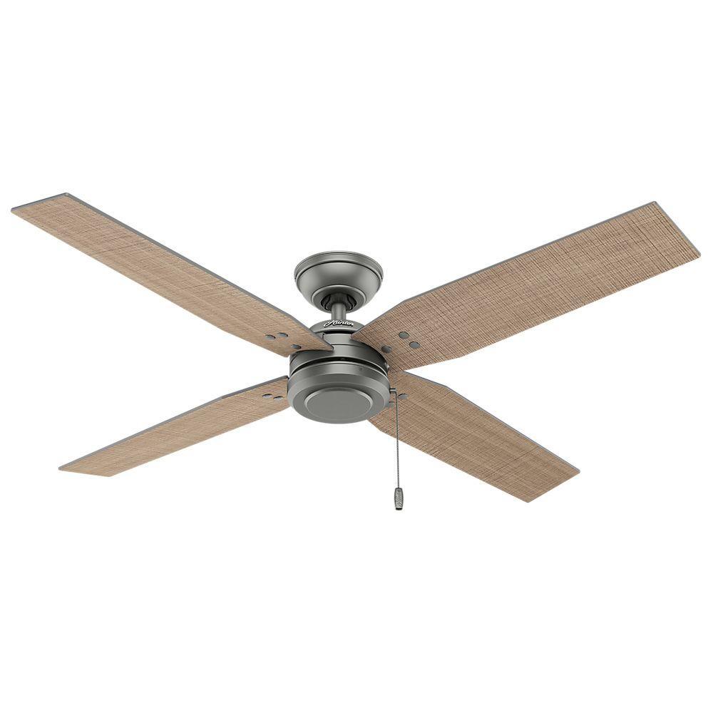 Commerce 54 in. Indoor/Outdoor Matte Silver Ceiling Fan