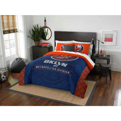 Islanders Draft 3-Piece Multi-Color Polyester Full/Queen Comforter Set