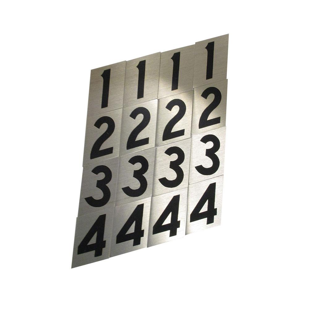 2 in. Aluminum Reflective Number Set