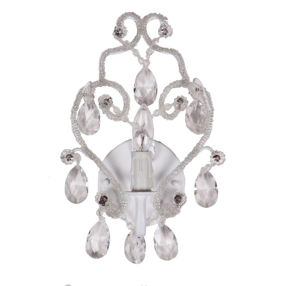 Tadpoles 1 Light White Sconce Chandelier
