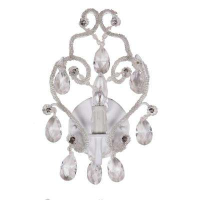 1-Light White Sconce Chandelier