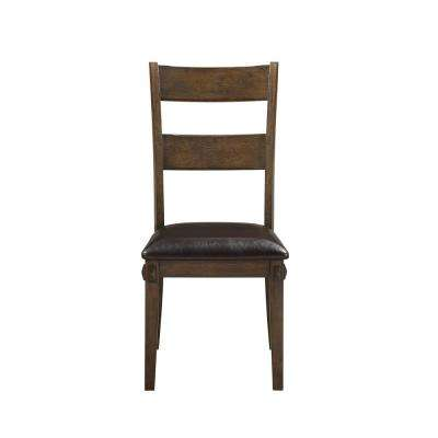 Nabirye PU and Dark Oak Side Chair (Set of 2)