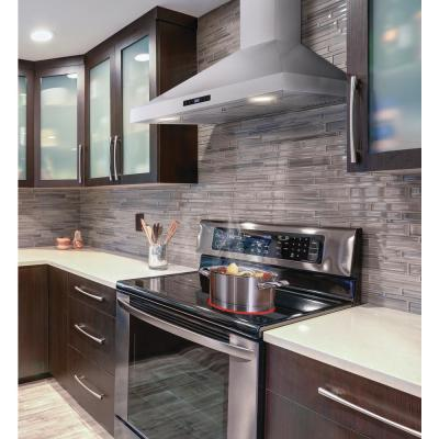 36 in. W Convertible Wall Mount Range Hood with 2 Charcoal Filters in Stainless Steel