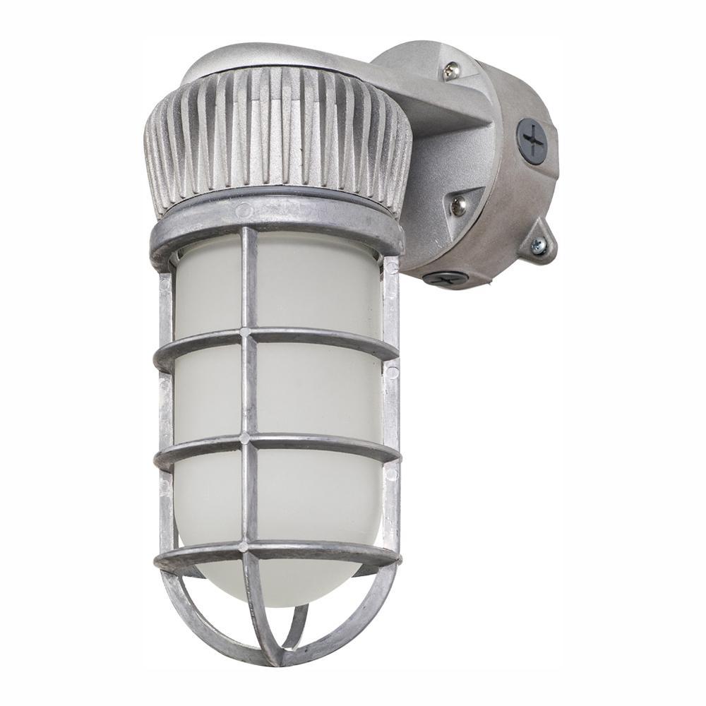 Vapor-Tight 150-Watt Equivalent Integrated Outdoor LED Area and Flood Light, 1900 Lumens, Outdoor Security Lighting