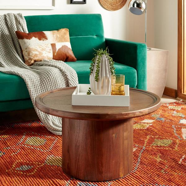 Amazing Safavieh Devin Dark Brown Coffee Table Cof6600B The Home Depot Ibusinesslaw Wood Chair Design Ideas Ibusinesslaworg