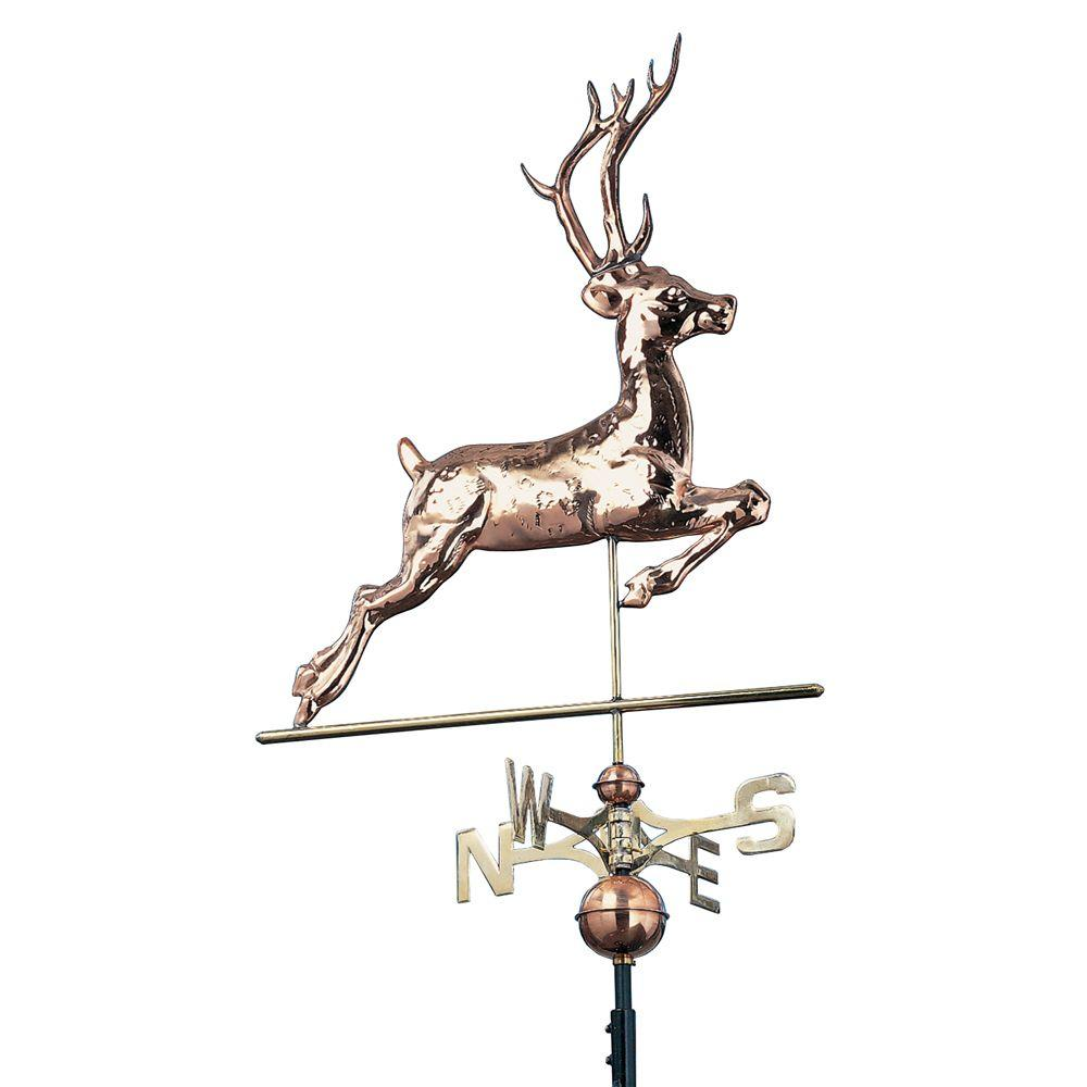Whitehall Products 48 in. Polished Deer Copper Weathervane