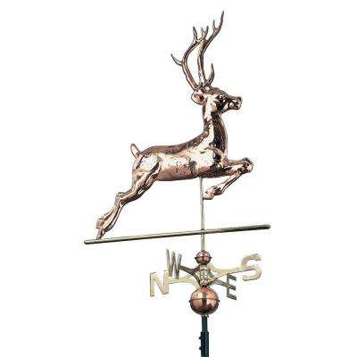 48 in. Polished Deer Copper Weathervane