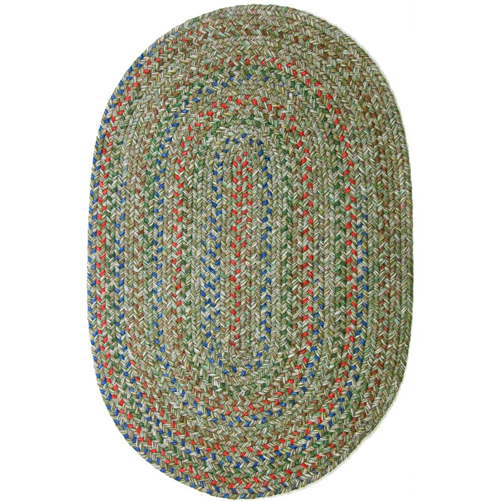 Rhody Rug Winslow Moss Green Multicolored 4 Ft X 6 Ft