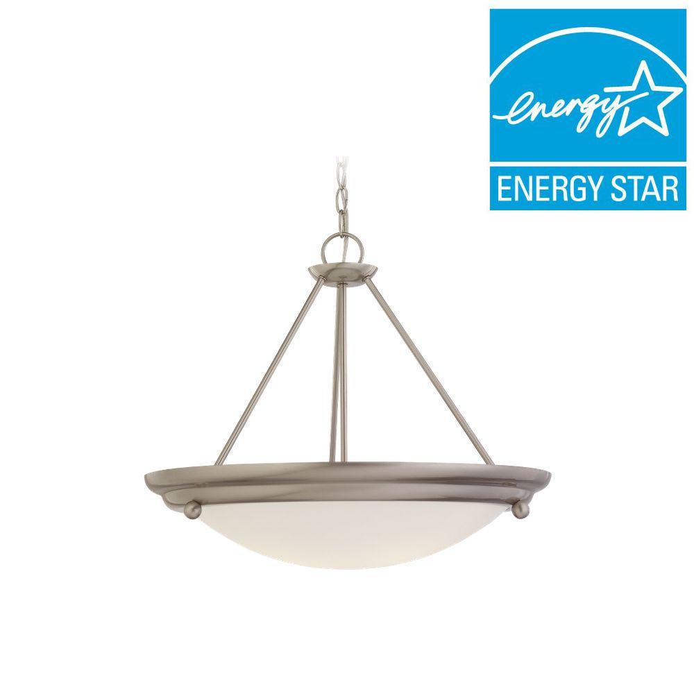 Sea Gull Lighting Centra 4-Light Brushed Stainless Semi-Flush Mount Light Fixture