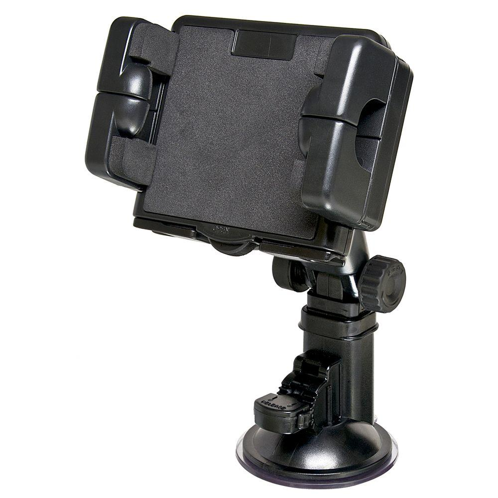 Bracketron Pro Mount XL for GPS, Black The ProMount XL, featuring our popular Grip-iT XL device holder, is a heavy-duty windshield mount that provides a stable, secure and easily accessible mounting solution for your portable devices. The portable mount installs easily on your windshield and features height and angle adjustability as well as 360° rotation for optimal viewing. Color: Black.