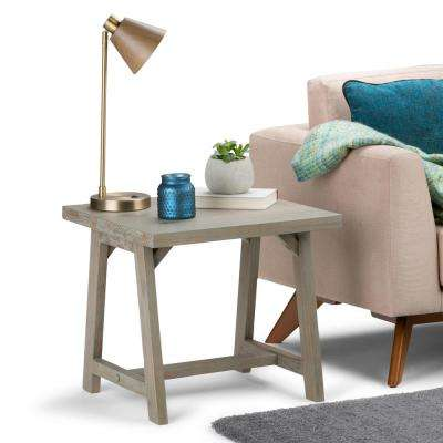 Sawhorse Distressed Grey End Table