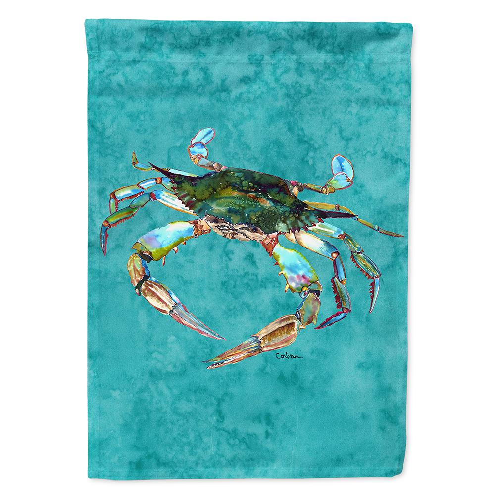 Caroline's Treasures 28 in  x 40 in  Polyester Crab Flag Canvas House Size  2-Sided Heavyweight
