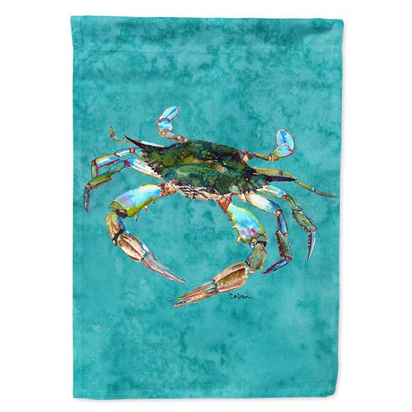 Caroline S Treasures 28 In X 40 In Polyester Crab Flag Canvas House Size 2 Sided Heavyweight 8657chf The Home Depot