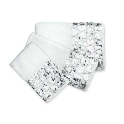 3-Piece Towel Set in Sparkling White
