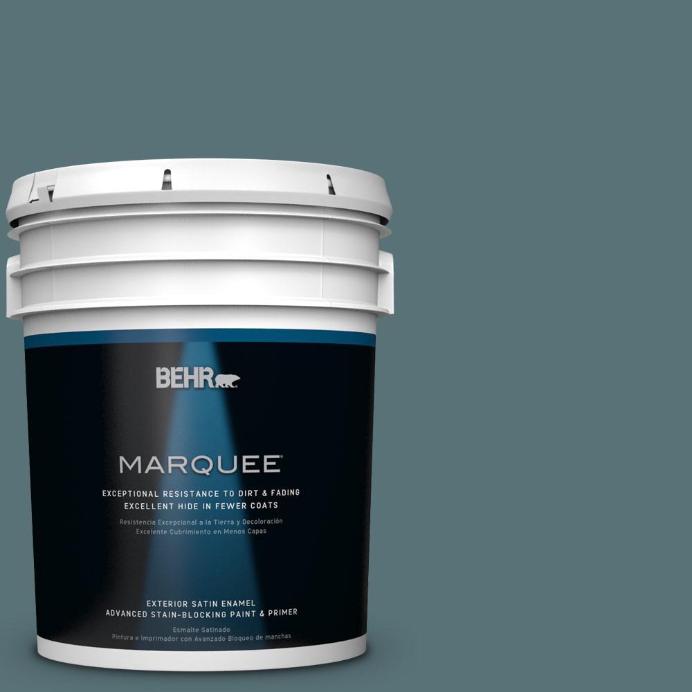 BEHR MARQUEE 5-gal. #PPU13-2 Juniper Berries Satin Enamel Exterior Paint