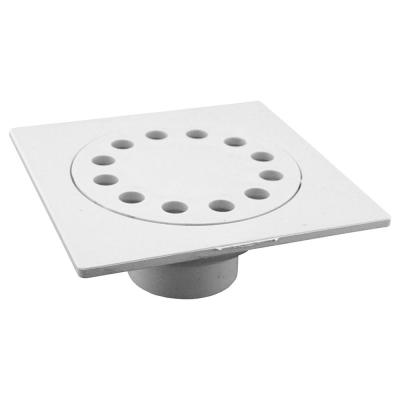 6 in. x 6 in. PVC Calk x Slip Bell Trap Drain with 1-1/2 in. x 2 in. Outlet