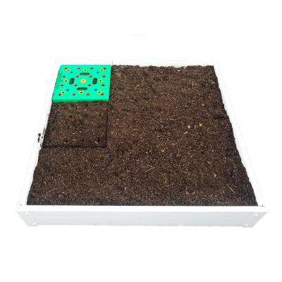 3 ft. x 3 ft. Stack-Able, White, Vinyl Raised Garden Bed Kit