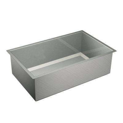 1600 Series Undermount Stainless Steel 32 in. Single Bowl Kitchen Sink