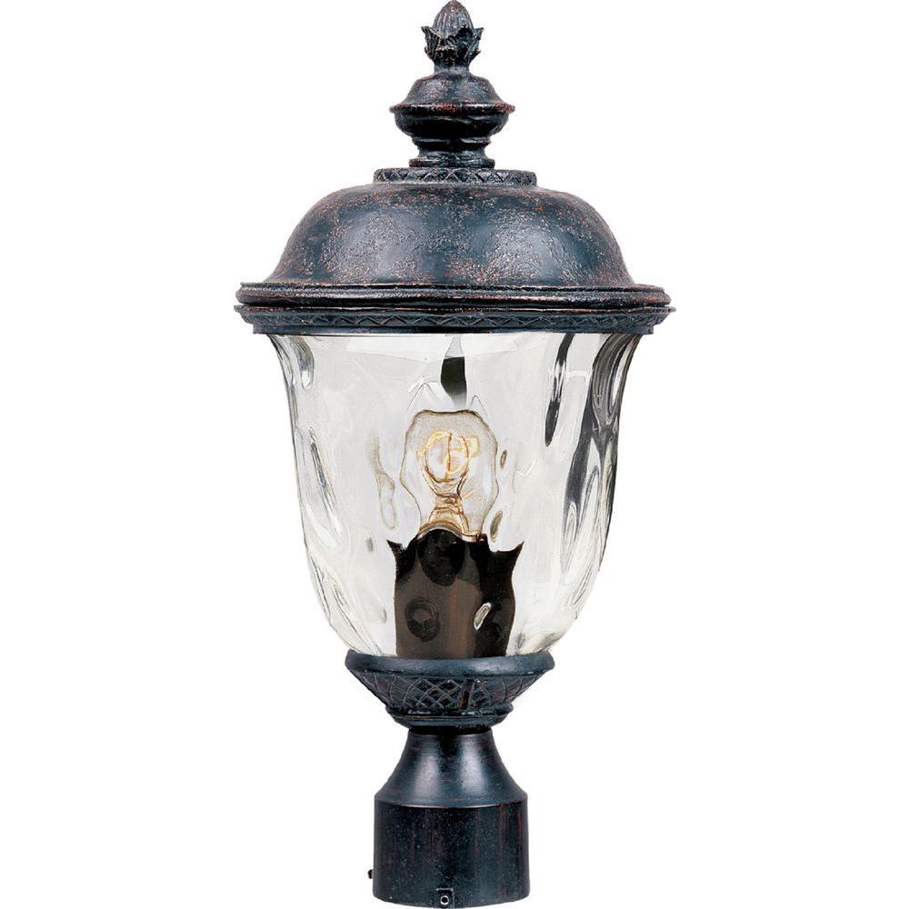 Carriage House Vivex 1-Light Oriental Bronze Outdoor Pole/Post Mount