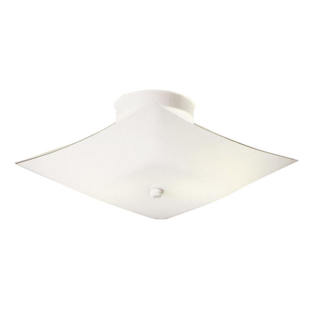 Design House 2 Light White Ceiling Light 501353 The Home Depot