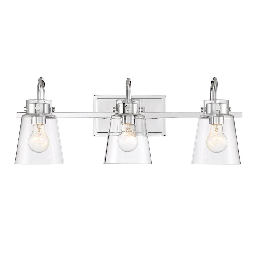 Inwood 3-Light Chrome Bath Bar Vanity Light