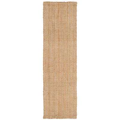 Natural Fiber Beige 2 ft. 3 in. x 10 ft. Runner Rug