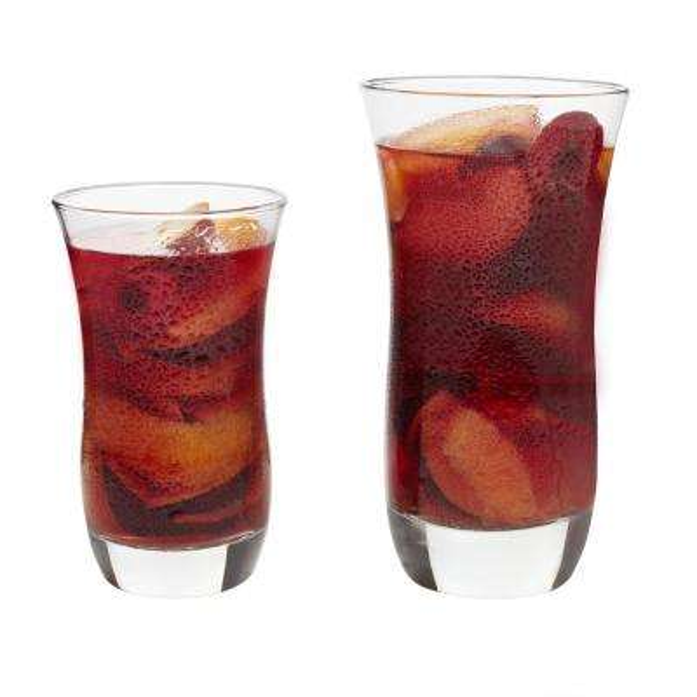Martello 17 oz. 16-Piece Clear Glass Drinkware Set