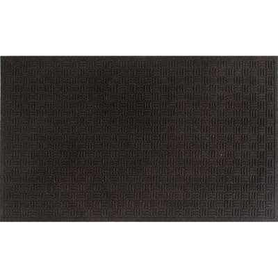 Mission Trapper Black 17 in. x 26 in. Door Mat