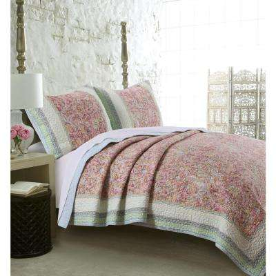 Palisades 3-Piece Pastel Full and Queen Quilt Set