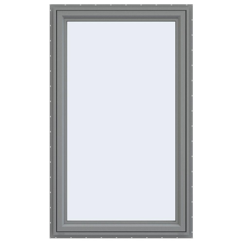 JELD-WEN 35.5 in. x 59.5 in. V-4500 Series Right-Hand Casement Vinyl Window - Gray