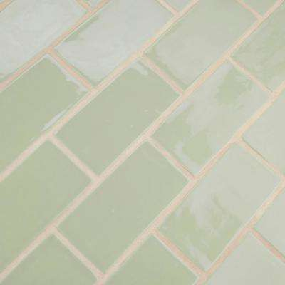 Chester Sage 3 in. x 6 in. Ceramic Wall Subway Tile (1 sq. ft. / pack)