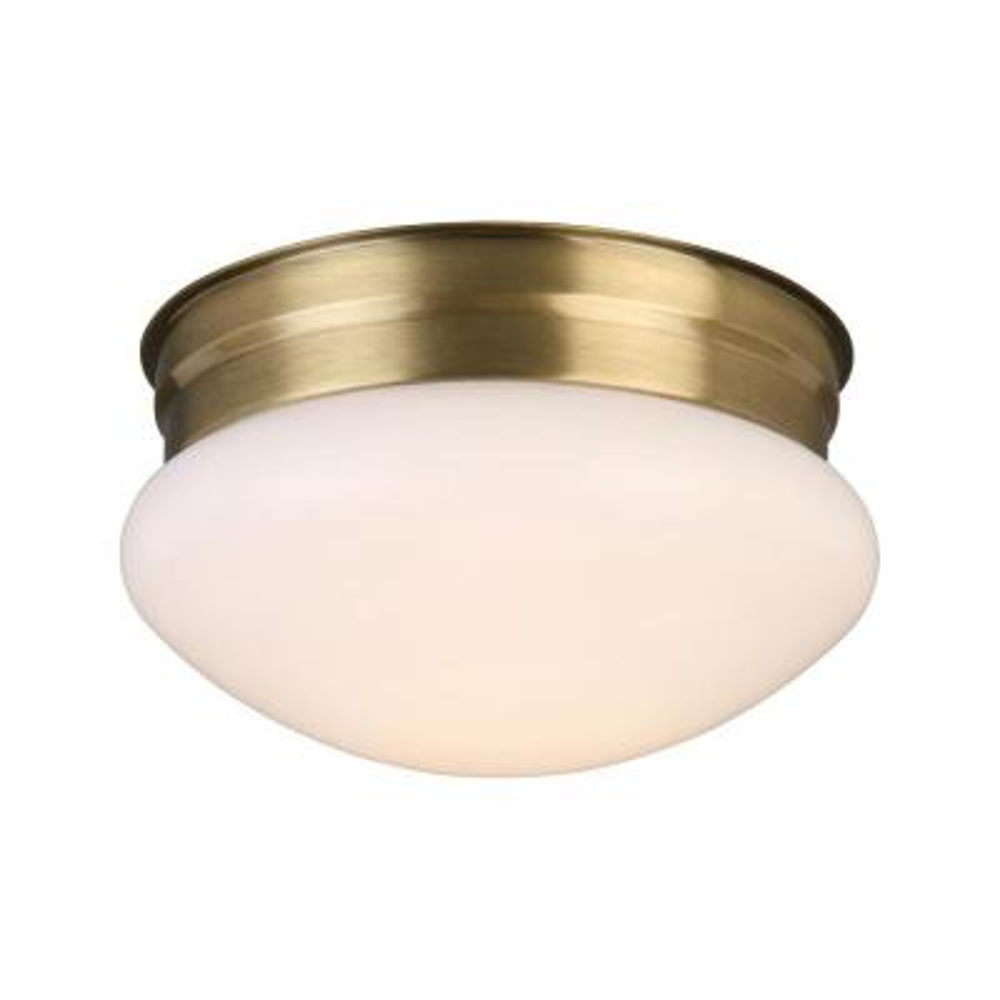 12-Watt Antique Brass Integrated LED Ceiling Flush Mount