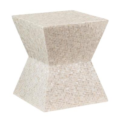 Kyra Ivory Capiz Mosaic Accent Table