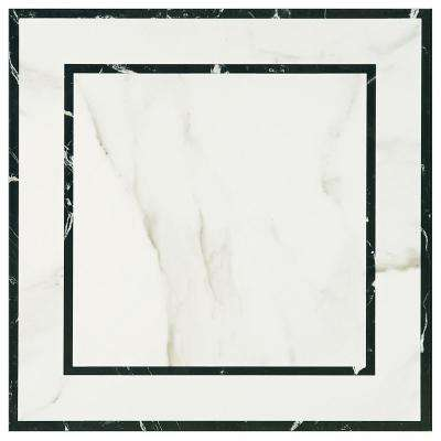 Developed by Nature Calacatta Deco 24 in. x 24 in. Glazed Porcelain Floor and Wall Tile (378.25 sq. ft. / pallet)
