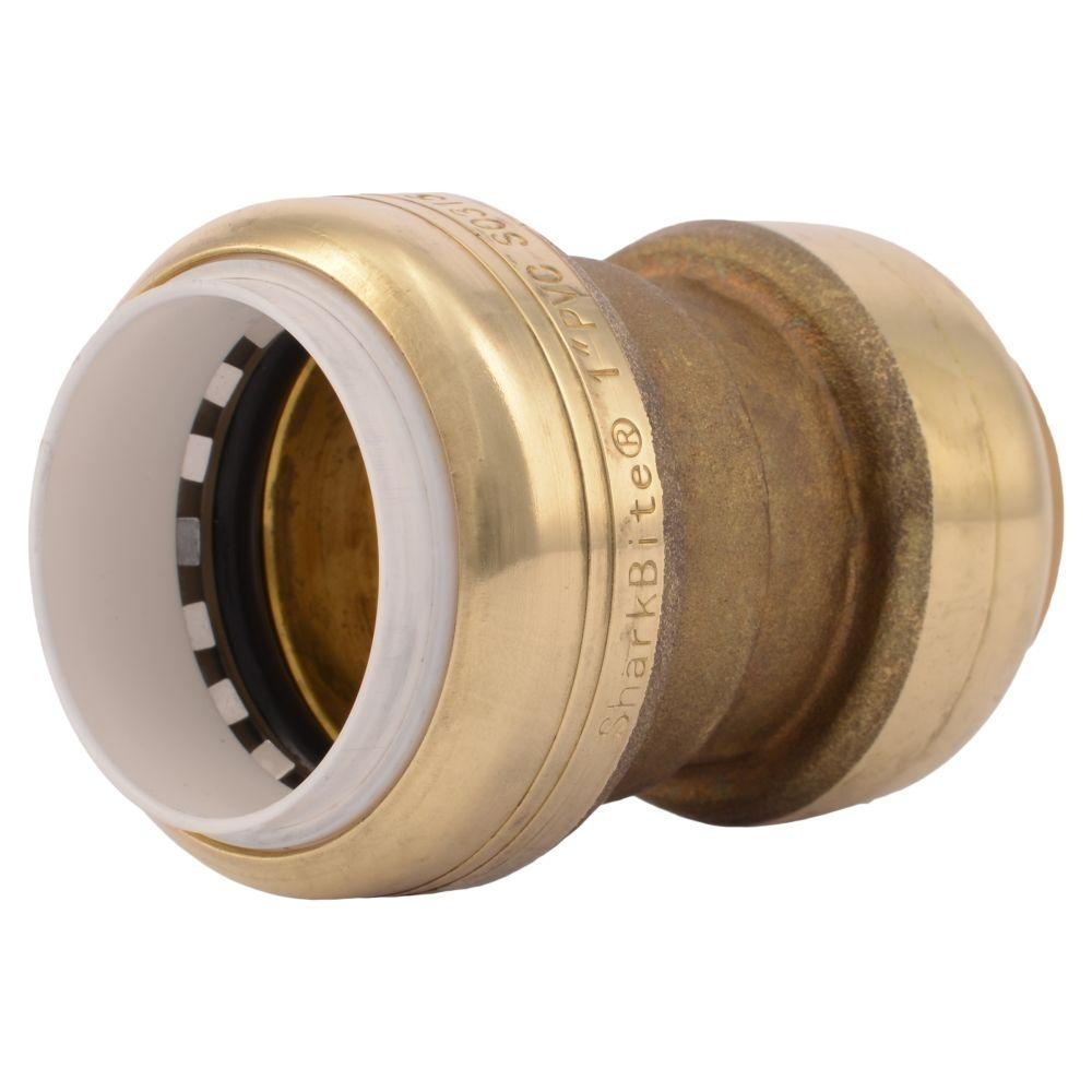 SharkBite 1 in. Push-to-Connect PVC IPS x CTS Brass Conversion Coupling Fitting