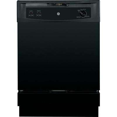 Front Control Under-the-Sink Dishwasher in Black, 64 dBA