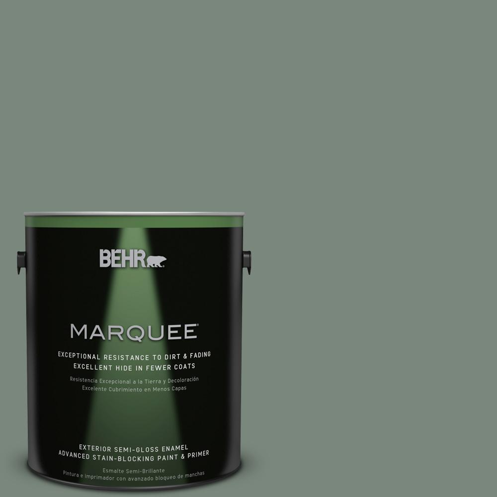 1-gal. #700F-5 Wild Sage Semi-Gloss Enamel Exterior Paint