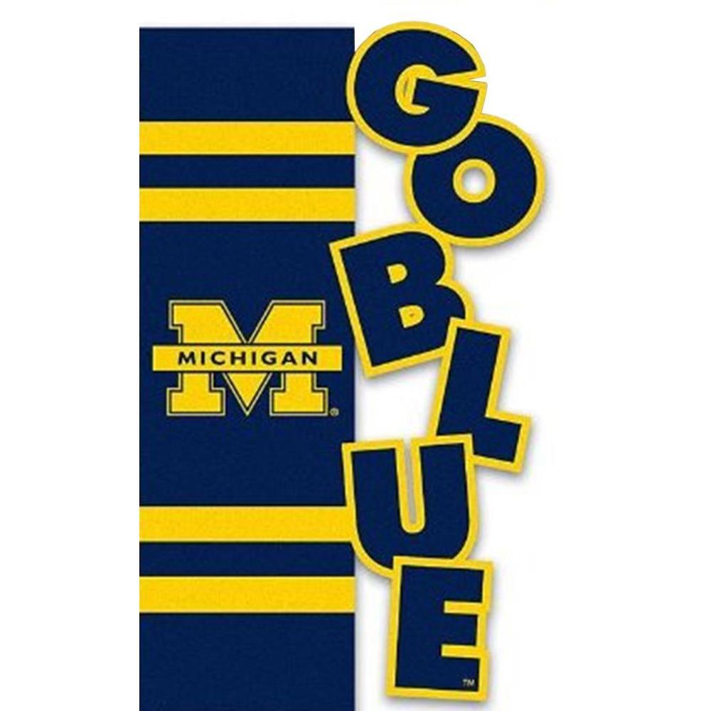 Evergreen Enterprises NCAA 12-1/2 in. x 18 in. Michigan Sculpted Garden Flag